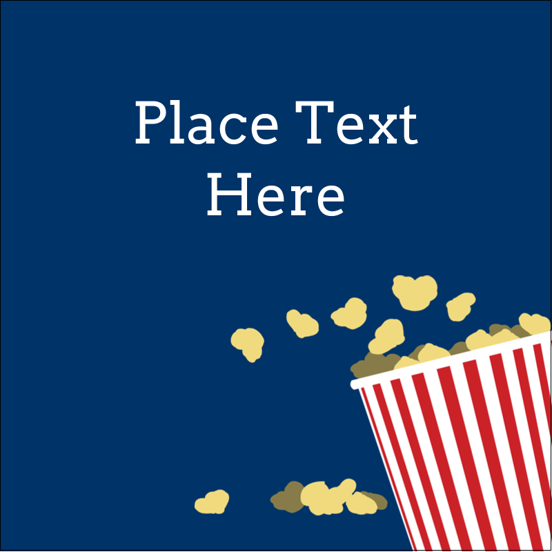 "2"" x 2"" Sqaure Label - Movie Popcorn"