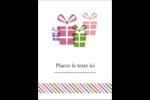 Quatre cadeaux Étiquettes rectangulaires - gabarit prédéfini. <br/>Utilisez notre logiciel Avery Design & Print Online pour personnaliser facilement la conception.