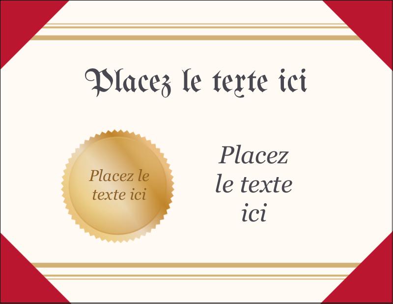 "4¼"" X 5½"" Carte Postale - Diplôme d'études"
