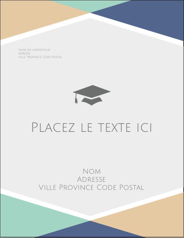 """4¼"""" X 5½"""" Carte Postale - Diplômes et couleurs"""