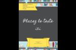 Rayons de bibliothèque Carte Postale - gabarit prédéfini. <br/>Utilisez notre logiciel Avery Design & Print Online pour personnaliser facilement la conception.