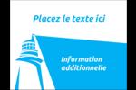 Phare bleu Carte Postale - gabarit prédéfini. <br/>Utilisez notre logiciel Avery Design & Print Online pour personnaliser facilement la conception.
