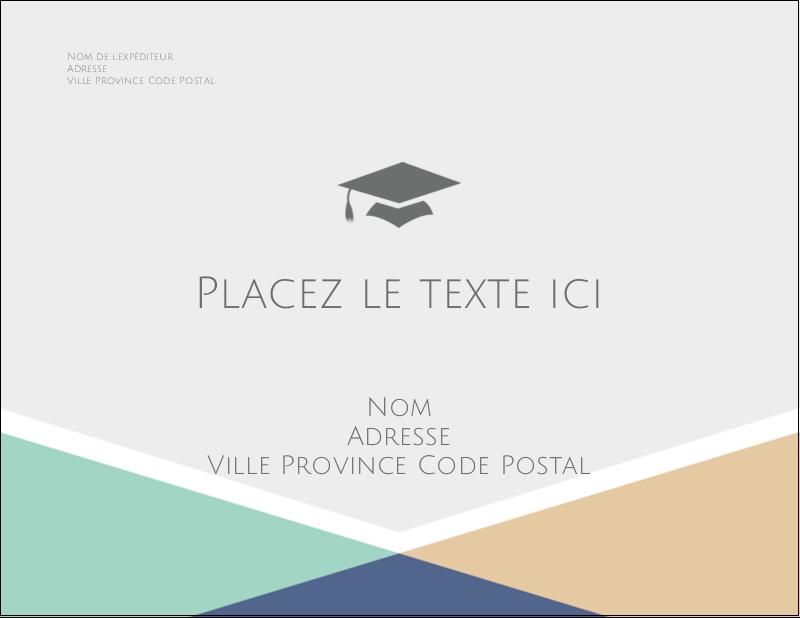 """5½"""" x 4¼"""" Carte Postale - Diplômes et couleurs"""