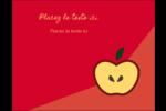Pomme rouge Carte Postale - gabarit prédéfini. <br/>Utilisez notre logiciel Avery Design & Print Online pour personnaliser facilement la conception.