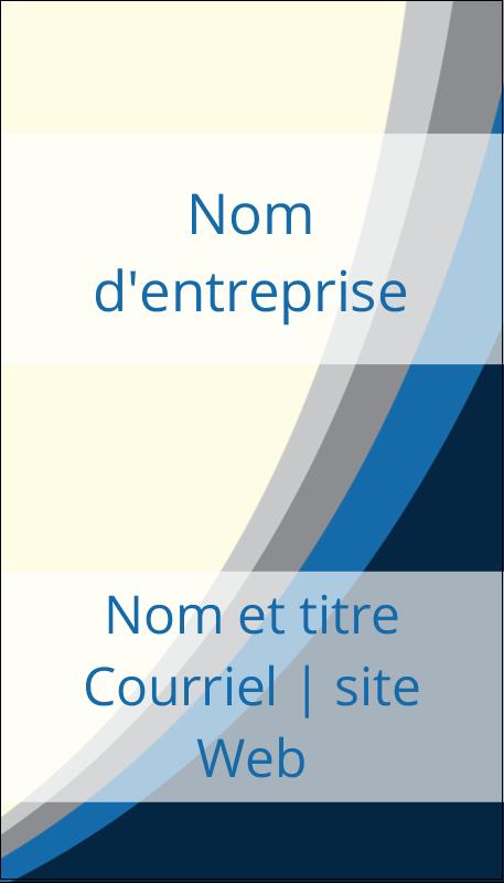 """3½"""" x 2"""" Carte d'affaire - Vague bleue"""