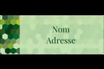 Hexagones verts Étiquettes D'Adresse - gabarit prédéfini. <br/>Utilisez notre logiciel Avery Design & Print Online pour personnaliser facilement la conception.