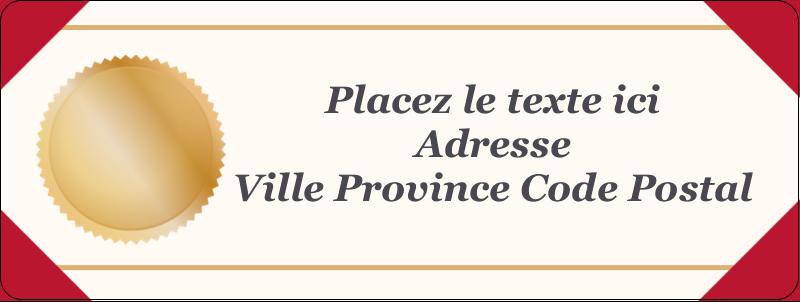 """⅔"""" x 1¾"""" Étiquettes D'Adresse - Diplôme d'études"""