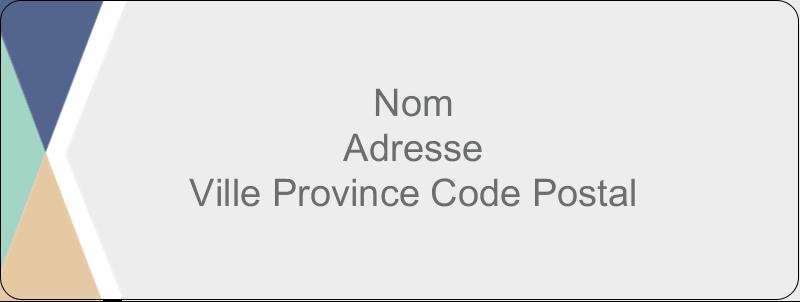"""⅔"""" x 1¾"""" Étiquettes D'Adresse - Diplômes et couleurs"""