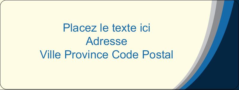 """⅔"""" x 1¾"""" Étiquettes D'Adresse - Vague bleue"""
