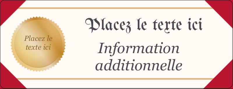 """½"""" x 1¾"""" Étiquettes D'Adresse - Diplôme d'études"""