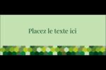 Hexagones verts Affichette - gabarit prédéfini. <br/>Utilisez notre logiciel Avery Design & Print Online pour personnaliser facilement la conception.
