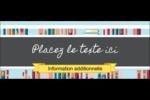 Rayons de bibliothèque Affichette - gabarit prédéfini. <br/>Utilisez notre logiciel Avery Design & Print Online pour personnaliser facilement la conception.