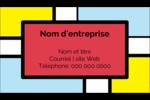 Carrés Mondrian rouges Carte d'affaire - gabarit prédéfini. <br/>Utilisez notre logiciel Avery Design & Print Online pour personnaliser facilement la conception.
