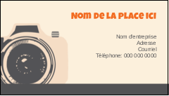 """2"""" x 3½"""" Carte d'affaire - Appareil photo rétro"""
