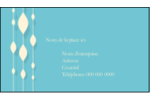 Rideau de perles bleues Carte d'affaire - gabarit prédéfini. <br/>Utilisez notre logiciel Avery Design & Print Online pour personnaliser facilement la conception.