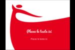 Danseuse rouge Carte Postale - gabarit prédéfini. <br/>Utilisez notre logiciel Avery Design & Print Online pour personnaliser facilement la conception.