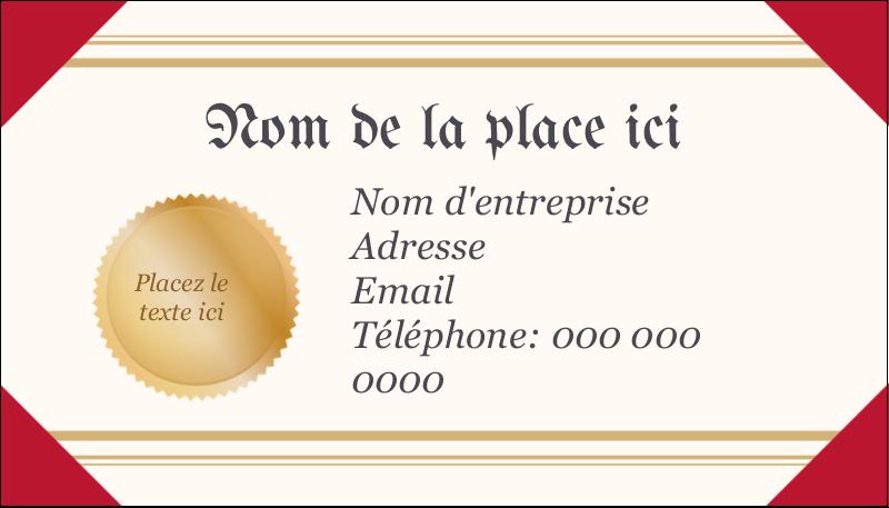 """2"""" x 3½"""" Carte d'affaire - Diplôme d'études"""