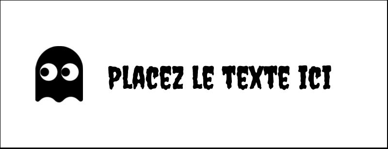 """1-7/16"""" x 3¾"""" Affichette - Fantômes Pac-Man d'Halloween"""