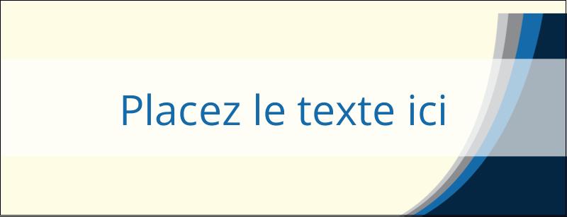 """1-7/16"""" x 3¾"""" Affichette - Vague bleue"""
