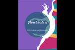 Danse en couleur Carte Postale - gabarit prédéfini. <br/>Utilisez notre logiciel Avery Design & Print Online pour personnaliser facilement la conception.