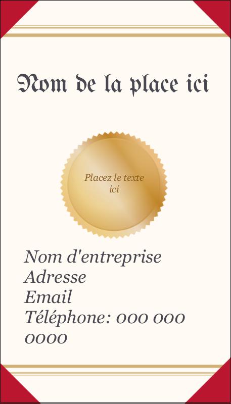 """3½"""" x 2"""" Carte d'affaire - Diplôme d'études"""