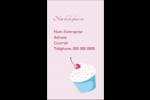 Petit gâteau aux cerises Carte d'affaire - gabarit prédéfini. <br/>Utilisez notre logiciel Avery Design & Print Online pour personnaliser facilement la conception.