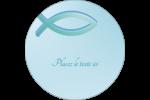 Ichthus Étiquettes rondes - gabarit prédéfini. <br/>Utilisez notre logiciel Avery Design & Print Online pour personnaliser facilement la conception.