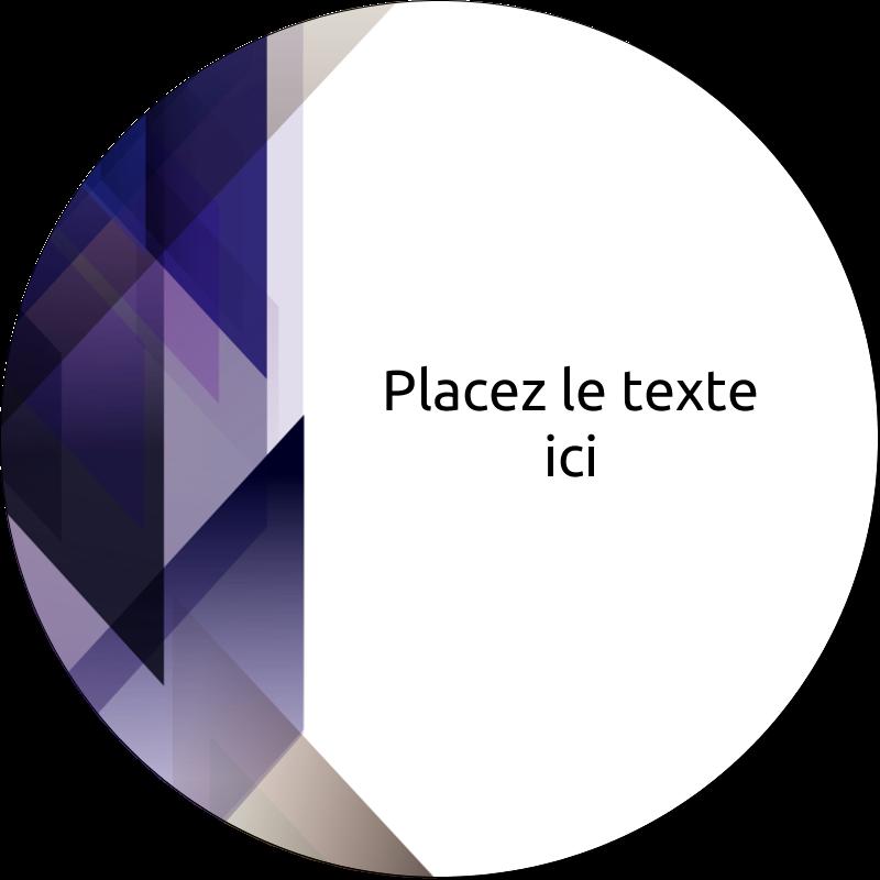 """3"""" Diameter Étiquettes rondes - Prisme de verre"""