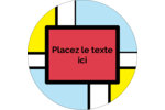 Carrés Mondrian rouges Étiquettes rondes - gabarit prédéfini. <br/>Utilisez notre logiciel Avery Design & Print Online pour personnaliser facilement la conception.