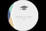 Diplômes et couleurs Étiquettes rondes - gabarit prédéfini. <br/>Utilisez notre logiciel Avery Design & Print Online pour personnaliser facilement la conception.