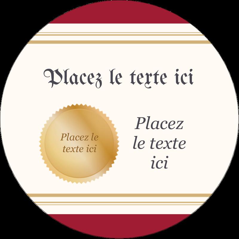 """3"""" Diameter Étiquettes rondes - Diplôme d'études"""