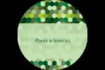 Hexagones verts Étiquettes rondes - gabarit prédéfini. <br/>Utilisez notre logiciel Avery Design & Print Online pour personnaliser facilement la conception.
