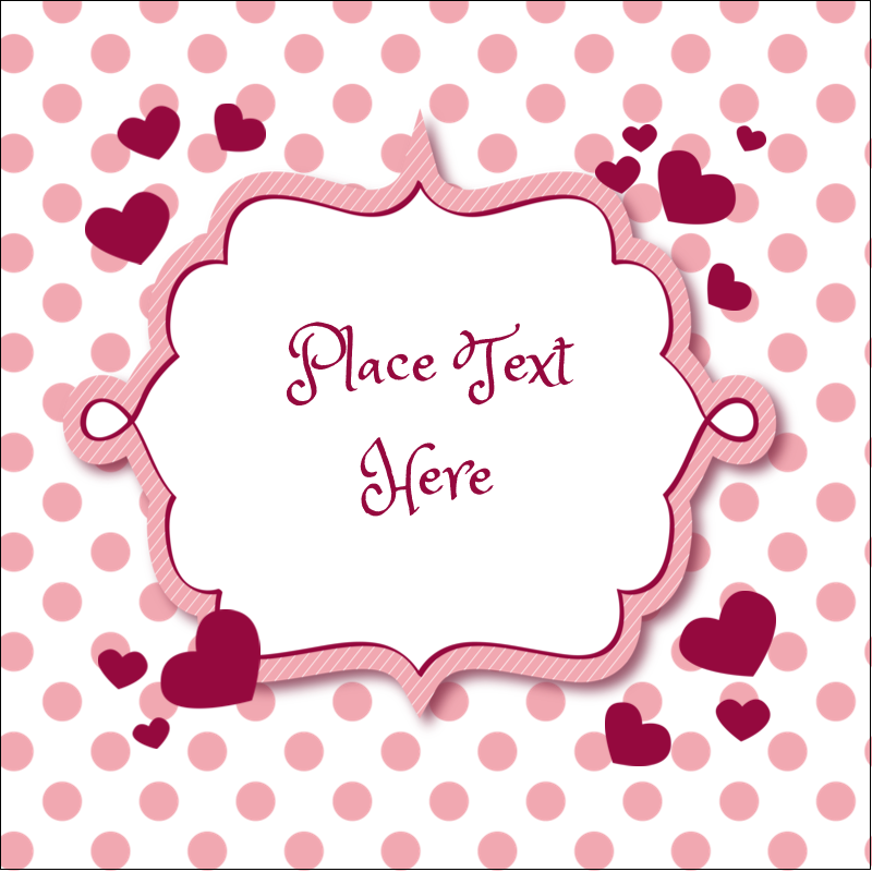 "2"" x 2"" Square Label - Valentine Bubbles"