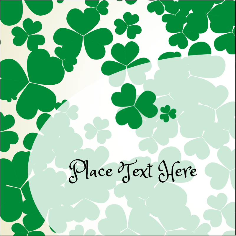 "2"" x 2"" Square Label - St. Patrick's Shamrock Background"