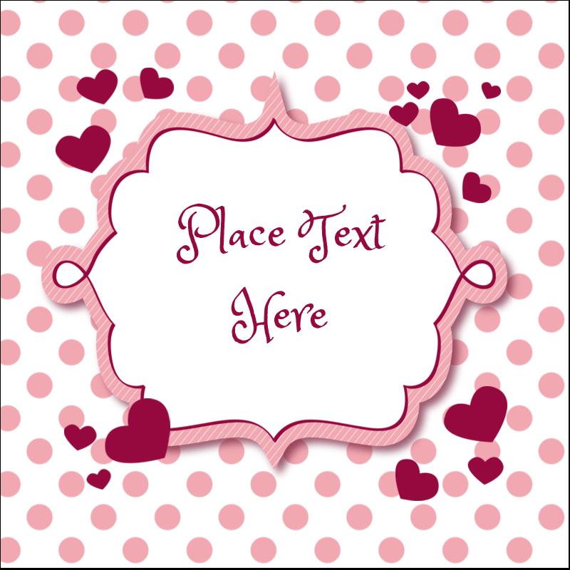 """1½"""" x 1½"""" Square Label - Valentine Bubbles"""