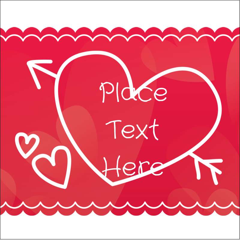 "1½"" x 1½"" Square Label - Valentine Drawn"