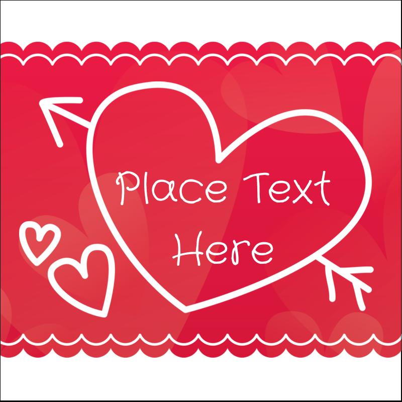 "2"" x 2"" Square Label - Valentine Drawn"