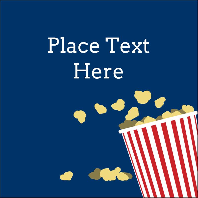 "2"" x 2"" Square Label - Movie Popcorn"