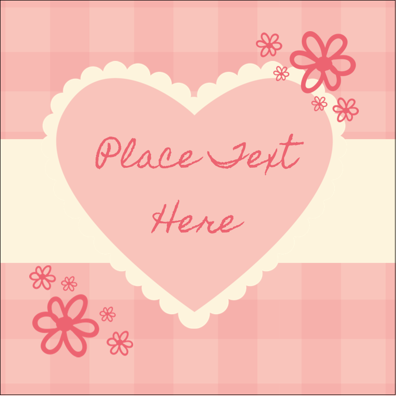 "1½"" x 1½"" Square Label - Valentine Gingham"