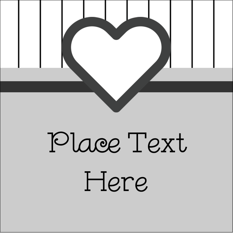 "2"" x 2"" Sqaure Label - Blue Heart"