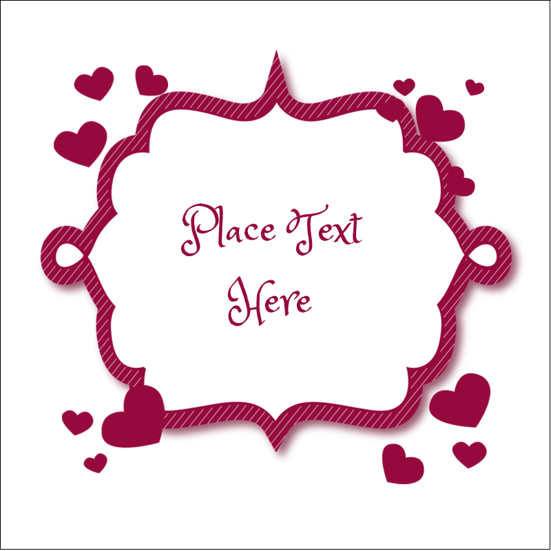 "2"" x 2"" Sqaure Label - Valentine Bubbles"