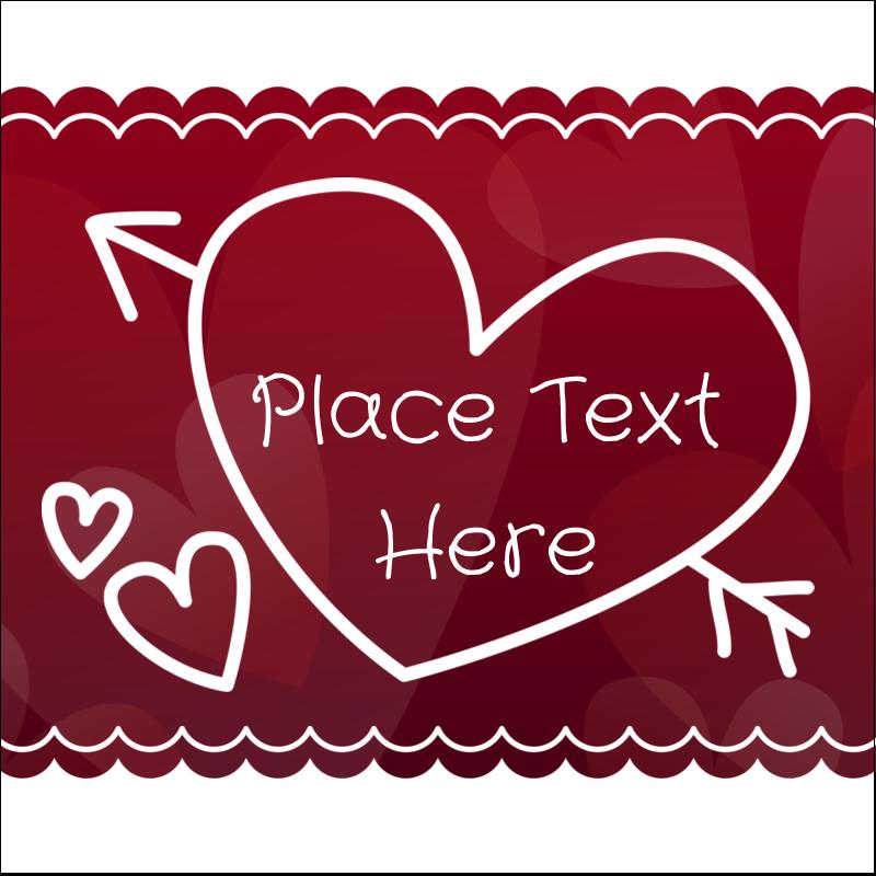 "2"" x 2"" Sqaure Label - Valentine Drawn"