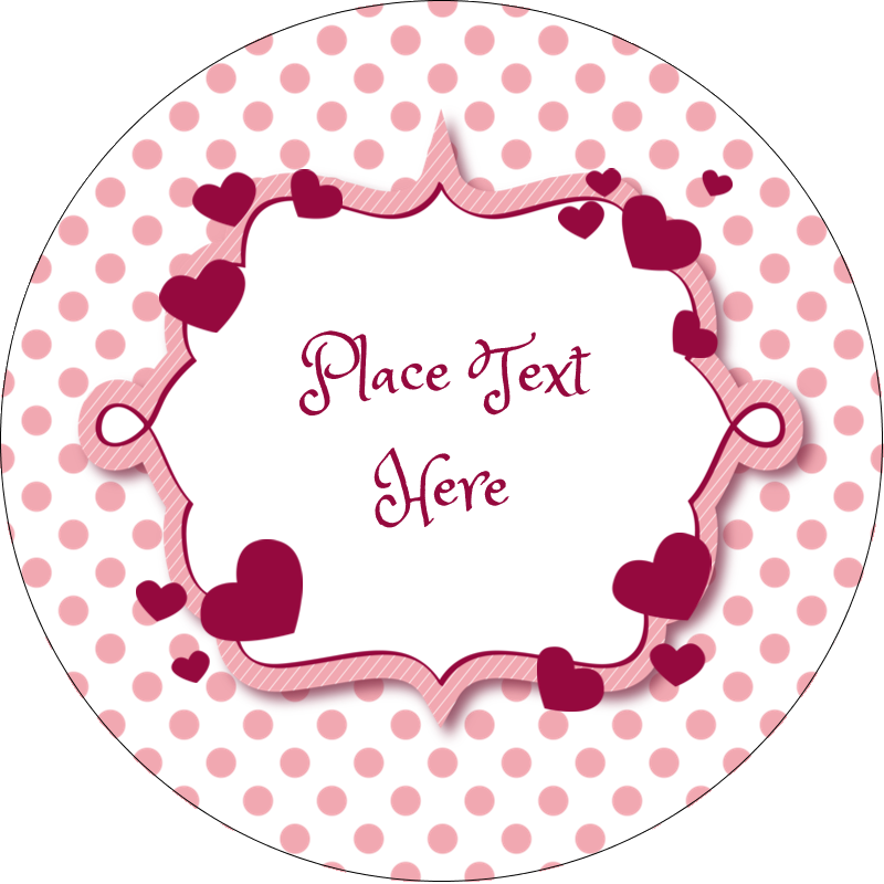 "2"" Round Label - Valentine Bubbles"