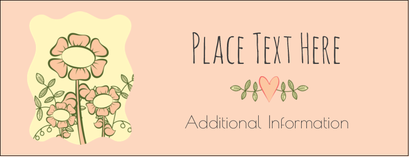 "1-7/16"" x 3¾"" Tent Card - Flower Sketch"