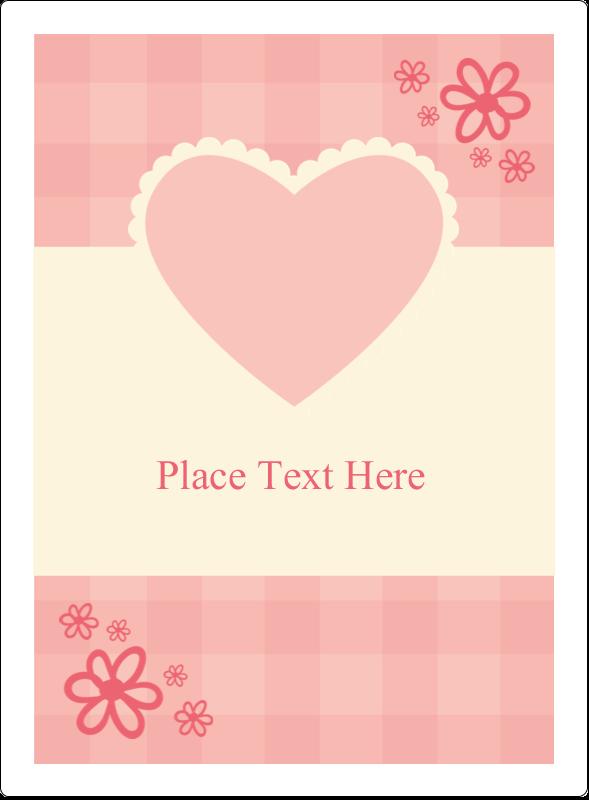 "4¾"" x 3½"" Rectangular Label - Valentine Gingham"