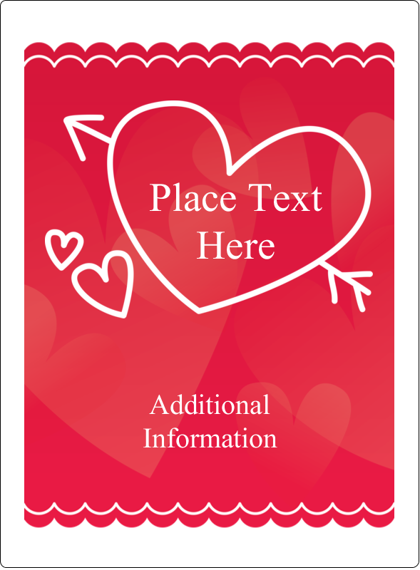 "4¾"" x 3½"" Rectangular Label - Valentine Drawn"