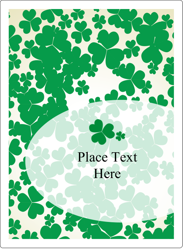 "4¾"" x 3½"" Rectangular Label - St. Patrick's Shamrock Background"