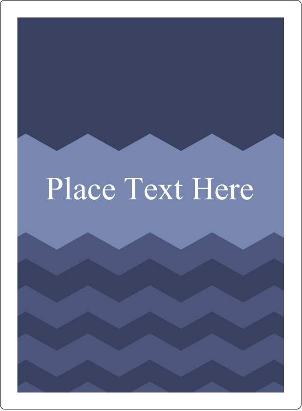 "4¾"" x 3½"" Rectangular Label - Blue Chevron"