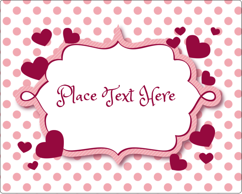 "3"" x 3¾"" Rectangular Label - Valentine Bubbles"