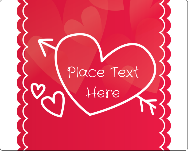 "3"" x 3¾"" Rectangular Label - Valentine Drawn"